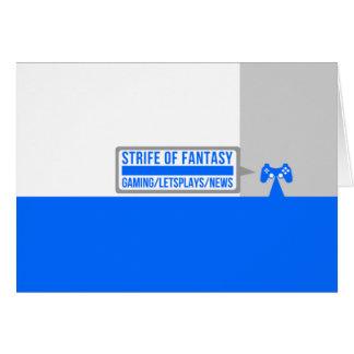 Strife full logo greeting card