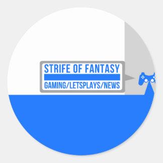 Strife full logo round sticker