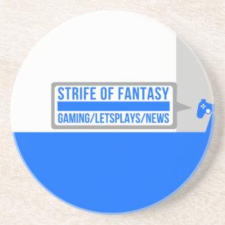 Strife full logo sandstone coaster