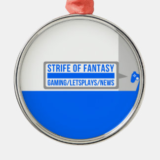 Strife full logo Silver-Colored round decoration