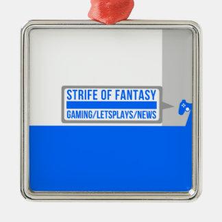 Strife full logo Silver-Colored square decoration