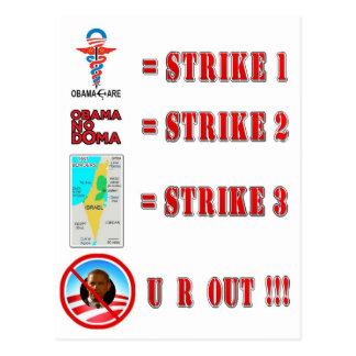 Strike 3 - U R OUT Post Card