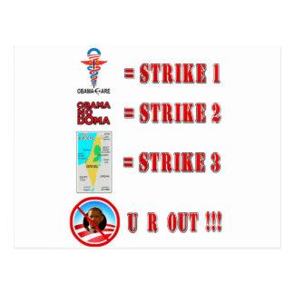 Strike 3 - U R OUT Post Cards