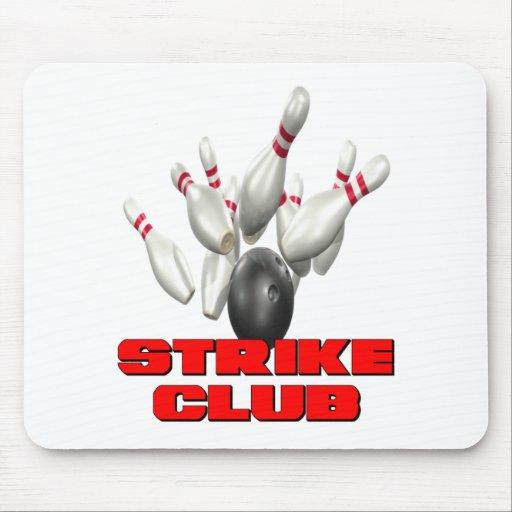 Strike Club Bowling Team Shirt Mouse Pads