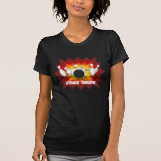 Strike Queen: Bowling Pins T-Shirt: Black T-Shirt