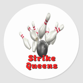 Strike Queens Classic Round Sticker