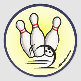 Strike the Bowling Pins Sticker