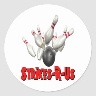 Strikes-R-Us Classic Round Sticker