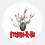 Strikes-R-Us Round Sticker