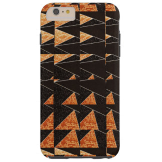 Striking Black and Gold Geometric Pattern Tough iPhone 6 Plus Case