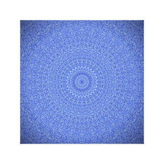 Striking Blue Mandala Canvas Print
