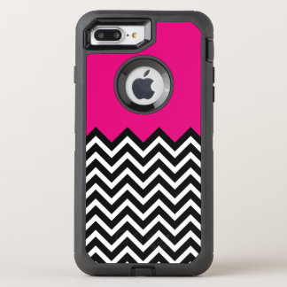 Striking Chevron Modern Hot Pink OtterBox Defender iPhone 8 Plus/7 Plus Case