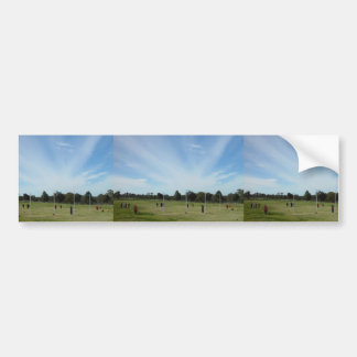 """Striking """"Cloud Rays"""" Over Football Oval At Landsd Bumper Sticker"""