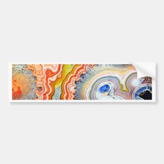 Striking Colourful Agate Gemstone Bumper Sticker