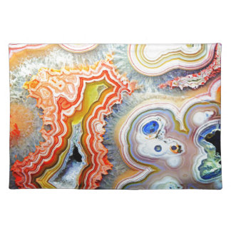 Striking Colourful Agate Gemstone Placemat