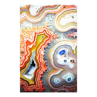 Striking Colourful Agate Gemstone Stationery
