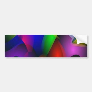 Striking Dark Abstract Art Bumper Stickers