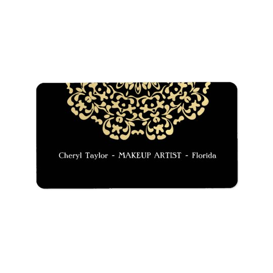 Striking Gold Black Classy Personalised Label