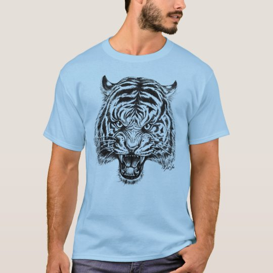 Striking Hand Drawn Tiger Men's T-shirt for Him