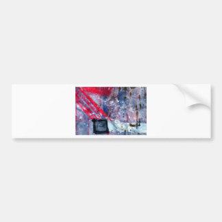 Striking matchstick bumper sticker