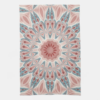 Striking Modern Kaleidoscope Mandala Fractal Art Tea Towel
