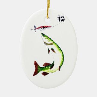 Striking Pike fishermans dream Christmas Ornament