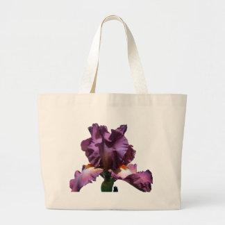 Striking Purple Iris Large Tote Bag