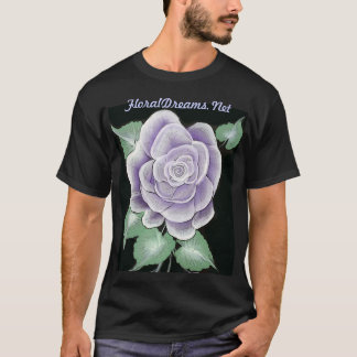 Striking Sterling Silver Rose Shirt