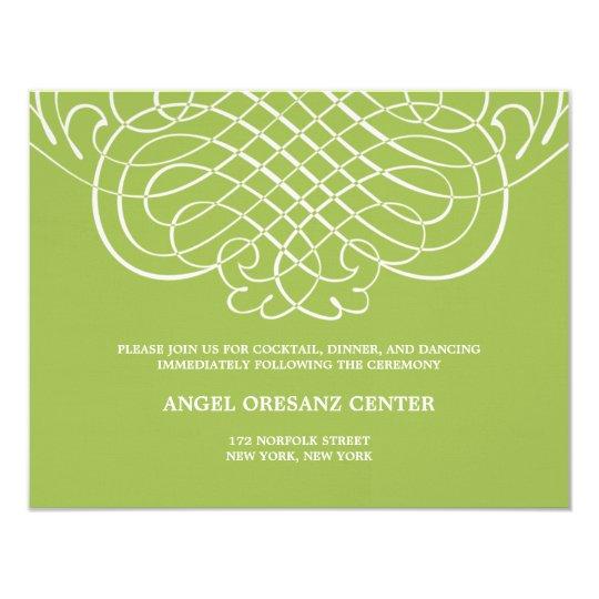 Striking Swirls Wedding Reception Card