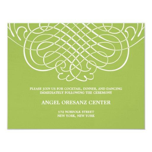 Striking Swirls Wedding Reception Card 11 Cm X 14 Cm Invitation Card