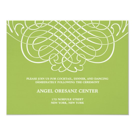 Striking Swirls Wedding Reception Card 11 Cm X 14 Cm Invitation Card