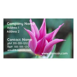 Striking Tulip Business Card Template