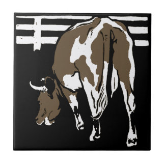 Striking Victorian Woodcut Animal Coaster  - Cows Small Square Tile