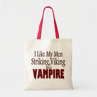 Striking Viking Vampires Budget Tote Bag