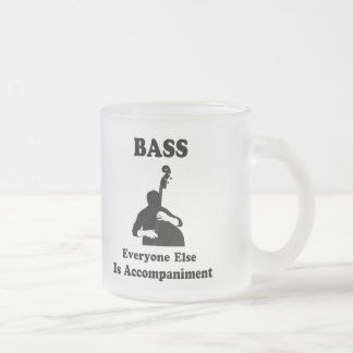String Bass Gift Frosted Glass Coffee Mug