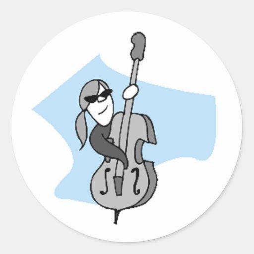 String Instruments-Double Bass Round Sticker
