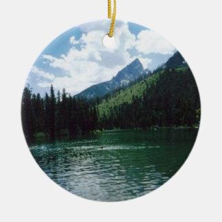 String Lake- Wyoming Round Ceramic Decoration