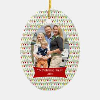 String lights Christmas holiday photo ornament
