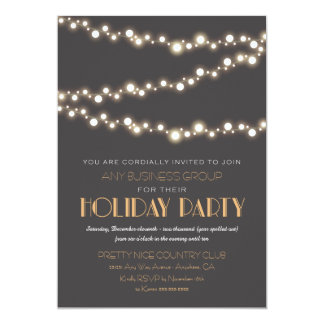String Lights Corporate Holiday Party Invitations
