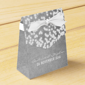 string lights elegant silver gray favor box