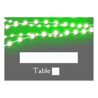 String lights green garden glow large business cards (Pack of 100)