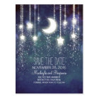 string lights moon stars romantic save the date postcard