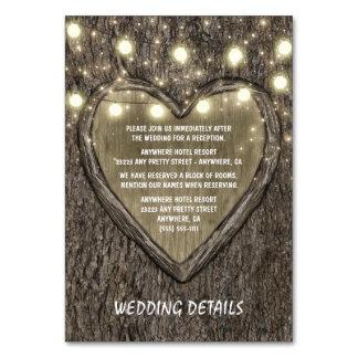 String Lights + Oak Tree Wedding Reception Cards Table Cards