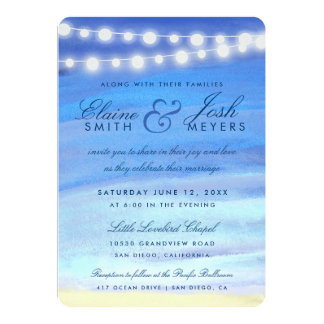 String lights on the water card