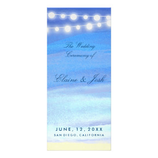 String lights on the water Program Template Customised Rack Card