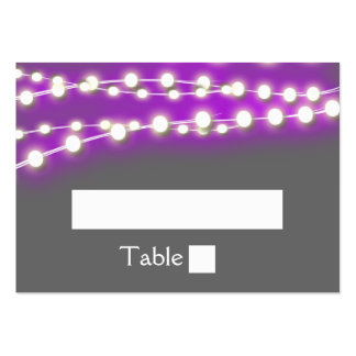 String lights purple garden glow large business cards (Pack of 100)