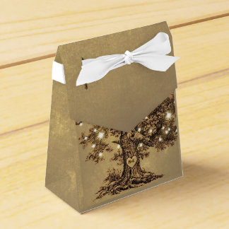 string lights tree old rustic wedding favor box