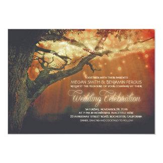 String Lights Tree Rustic Forest Wedding Invites