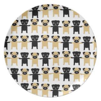String O' Pugs Plate