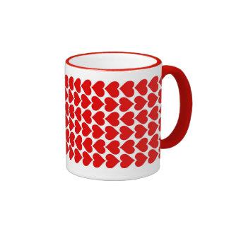 String of Hearts Ringer Mug